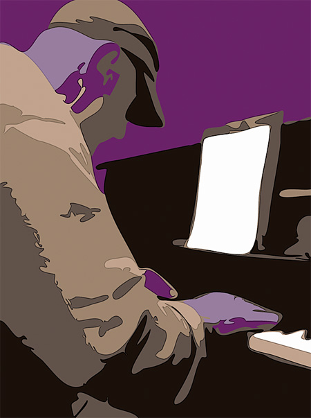 blues piano player